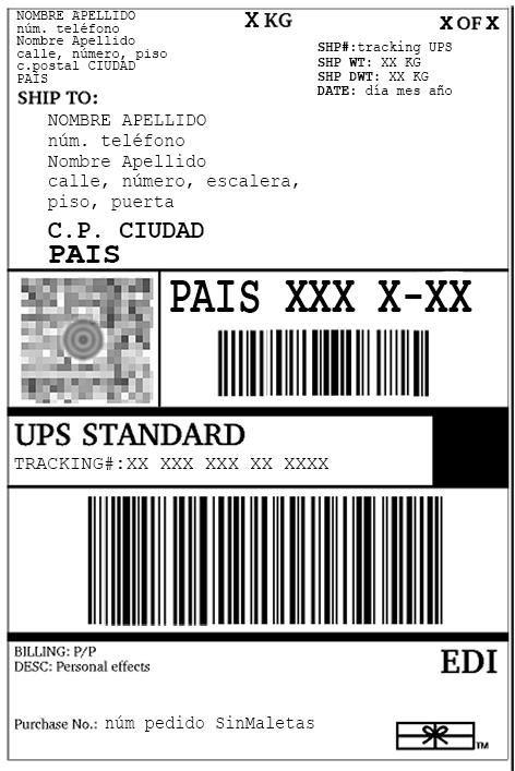 Etiqueta UPS