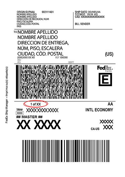 Etiqueta Fedex