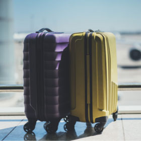 Suitcases with wheels